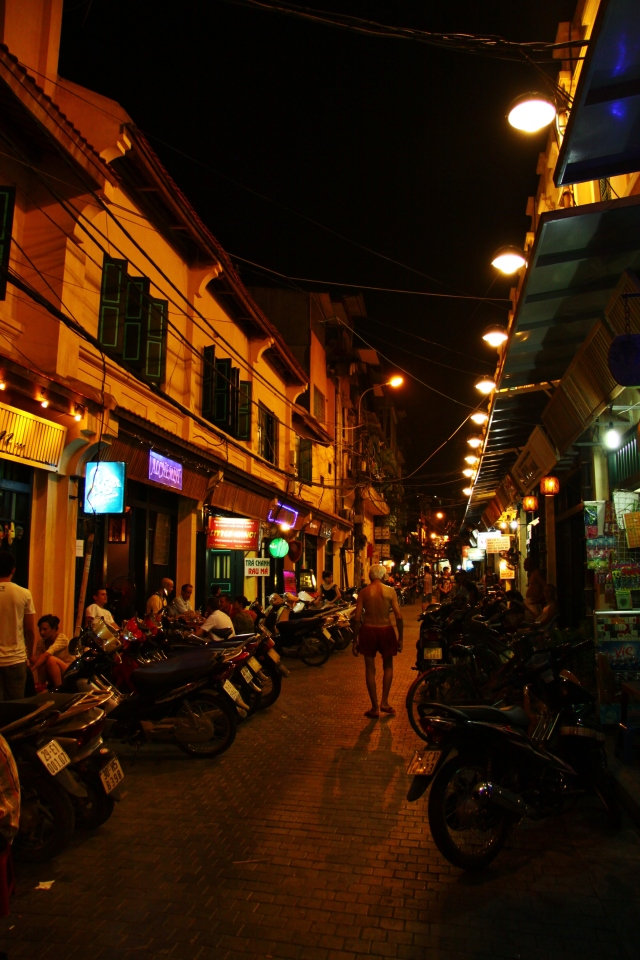 Wandering the streets of Hanoi.