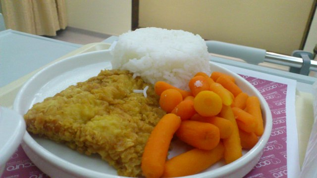 Believe it or not, this was my first ever hospital food. It was as average as I expected.